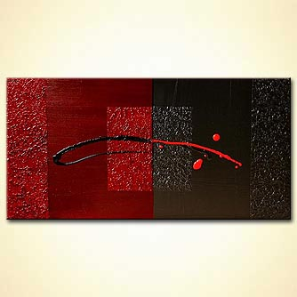 Abstract painting black and red painting modern art 4755 for Artist mural contract