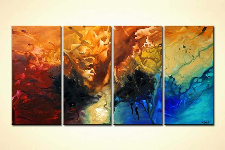 Large Modern Canvas Art Multi Panel