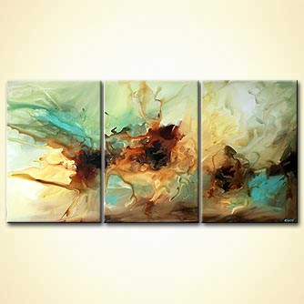 Abstract painting - White Tide