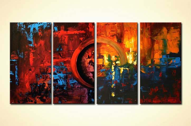 Painting For Sale Multi Panel Red Painting Sunset On