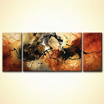 Abstract painting - The Marble Effect