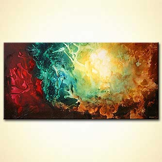 Abstract painting - Restless Earth