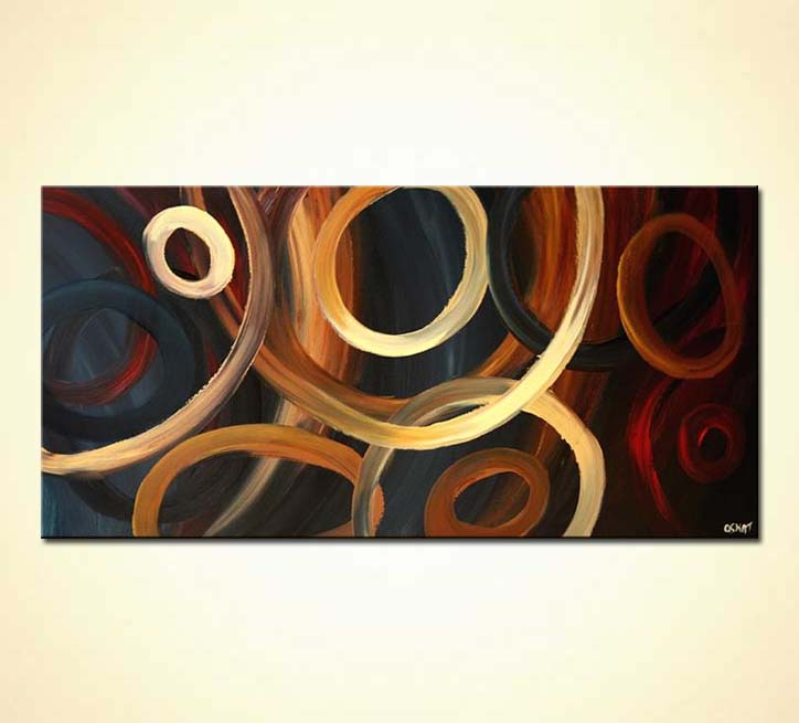 Painting For Sale Large Geometrical Painting Circles