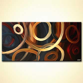 Abstract painting - Going in Circles
