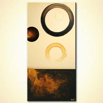 vertical geometrical painting circles planet