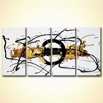 modern abstract art - Golden