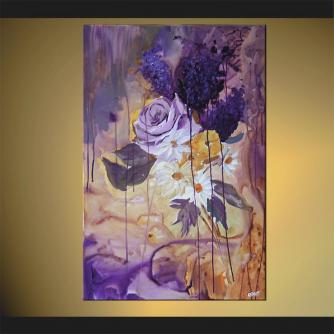 abstract landscape painting home decor flower