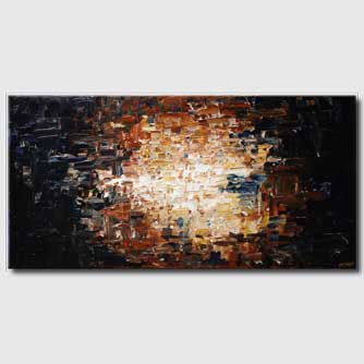Abstract painting - abstract art in dark colors large painting #4905