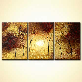 Landscape painting - In the Forest of Light