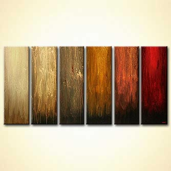 modern abstract art - Six Colors of Magic
