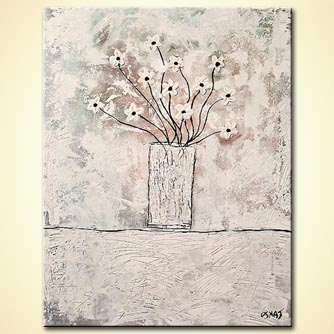 Floral painting - White Blossom