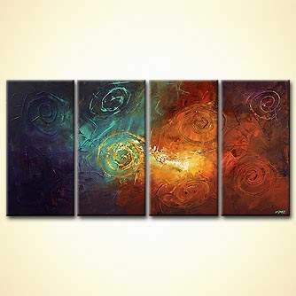 Abstract painting - Starry Night