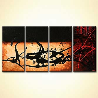Abstract painting - Red Code