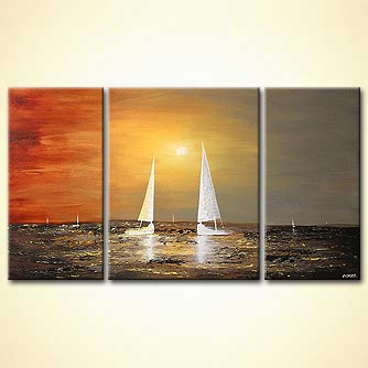 Seascape painting - The Meeting