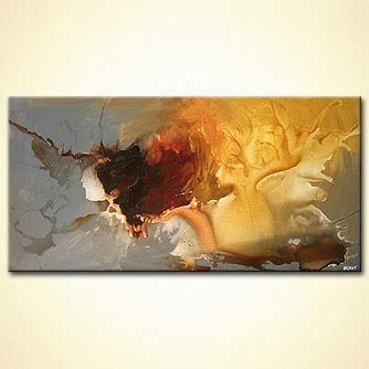 Abstract painting - The Golden Deer
