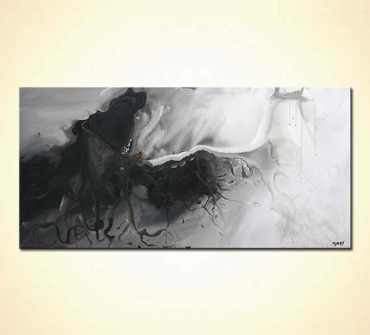 Painting black and white abstract painting home decor 5008 for White and black paintings