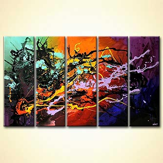 Abstract painting - Signature of an Artist