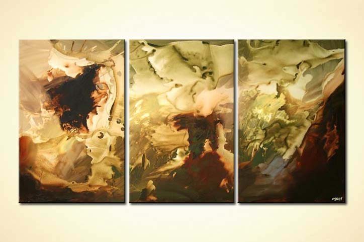 Painting For Sale Triptych Canvas Art Brown And Light