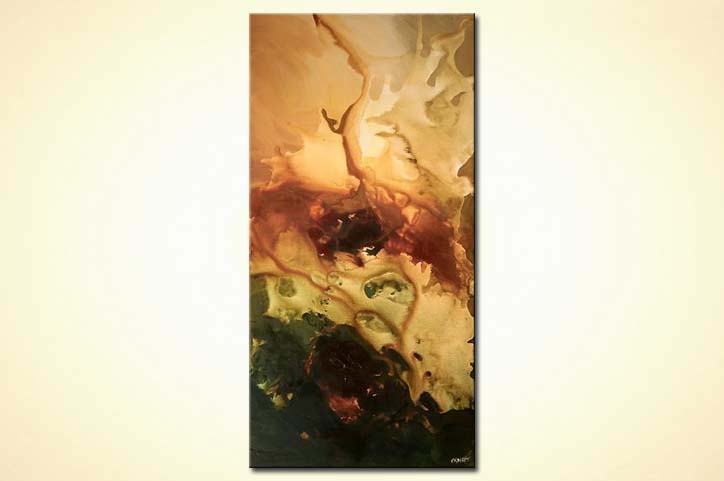 Painting for sale - vertical modern home decor large art #4982