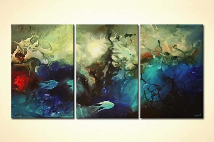painting for sale fish underwater seascape painting