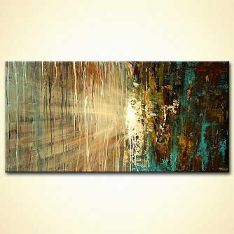 modern abstract art - Moon Rain