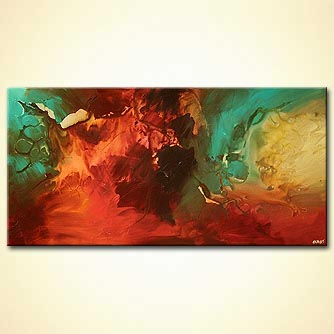 Abstract painting - The Unknown