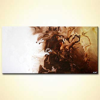 modern wall painting in brown and white colors