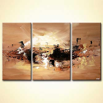 Abstract painting - Sunrise on Thema