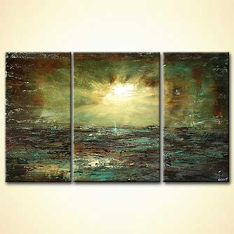 Landscape painting - Meeting at the Horizon