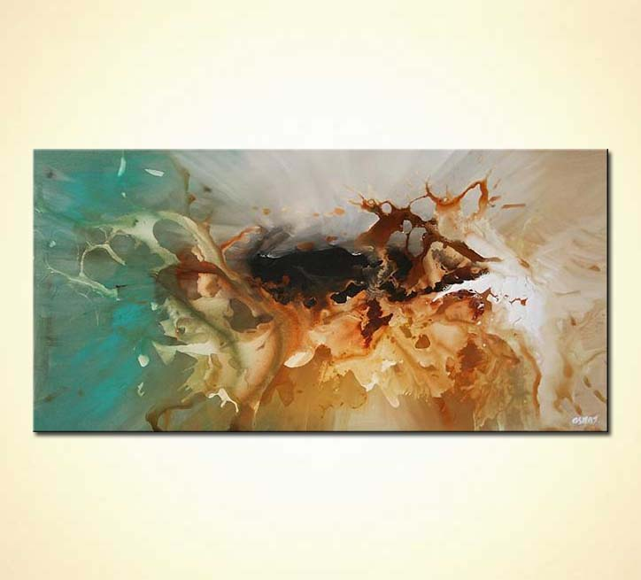 Painting For Sale Horizontal Abstract Painting With