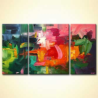 Abstract painting - The Lady With the Green Hat