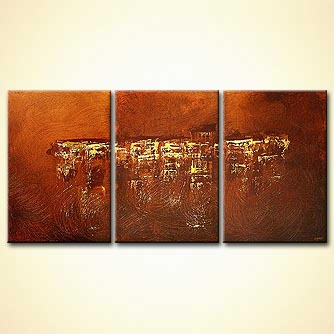 Abstract painting - Golden Falls