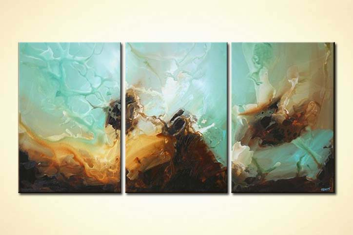 Canvas Abstract Ocean View Painting