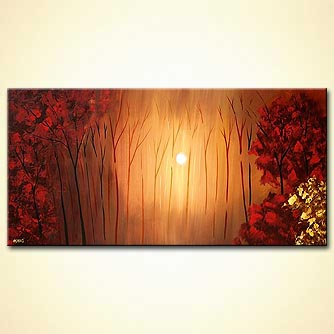 Forest painting - Forest of Light
