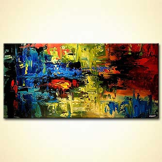 Abstract painting - The Eye of the Tiger