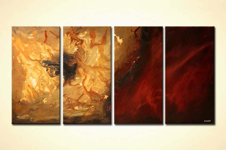 multi panel living room home decor - Abstract and Modern Art Painting