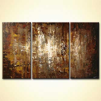 Abstract painting - Silver City