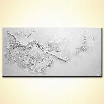 Abstract painting - Snow on Zanzibar