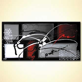 Abstract painting - A Signature of an Artist