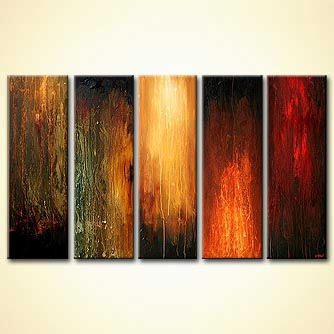 modern abstract art - The Five Elements
