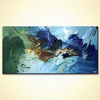 Abstract painting - On Wings of Imagination