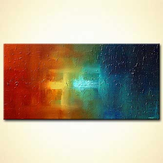 modern abstract art - Celestial Glow