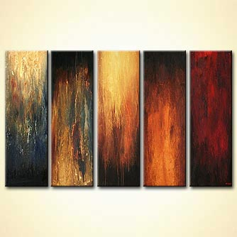 modern abstract art - The Five Commanders