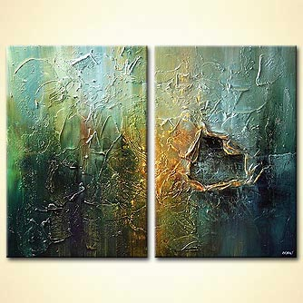 Abstract painting - Wrinkle in Time