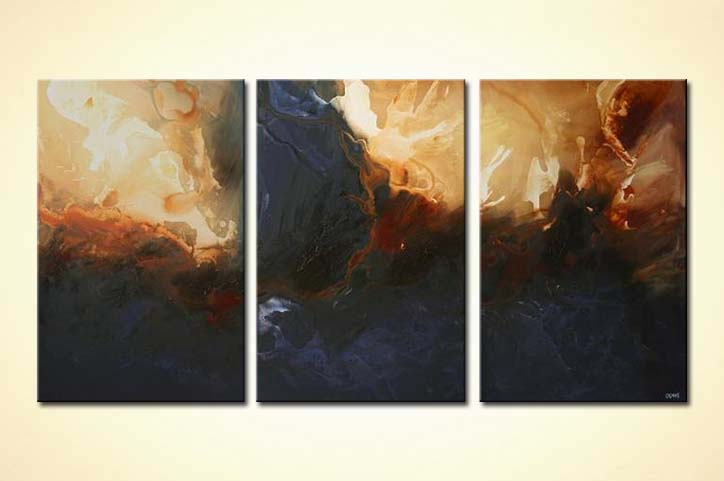 Painting For Sale Large Home Decor Painting Triptych Sea
