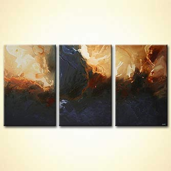 Abstract painting - The Dark Sea