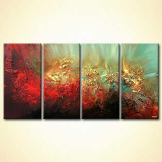 Abstract painting - Where the Golden Apples Grow