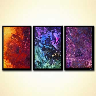 Abstract painting - Three New Planets