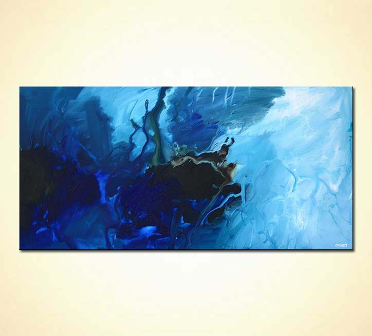 Blue Abstract Art Painting Pictures to Pin on Pinterest ...