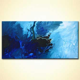 Abstract painting - The Blue Planet
